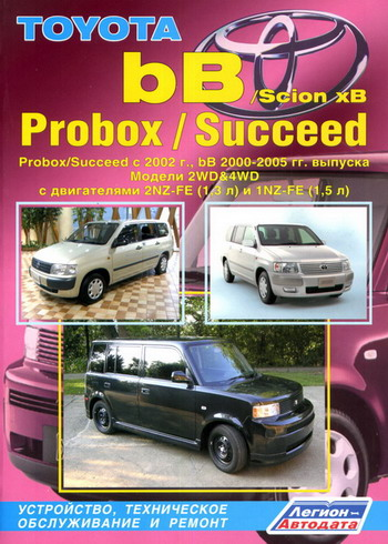 TOYOTA bB 2000-2005 / TOYOTA PROBOX / SUCCEED с 2002 бензин